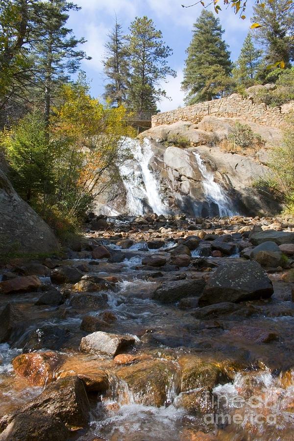 Autumn At Helen Hunt Falls Colorado Photograph