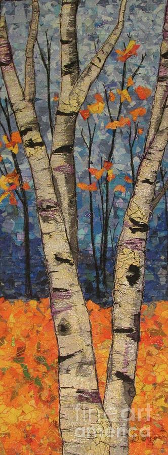 Landscape Tapestry - Textile - Autumn Birch by Dolores Fegan