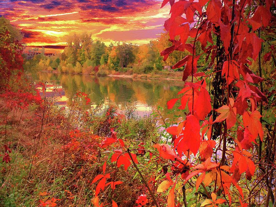 Autumn Digital Art - Autumn Garlands by Alex Lim