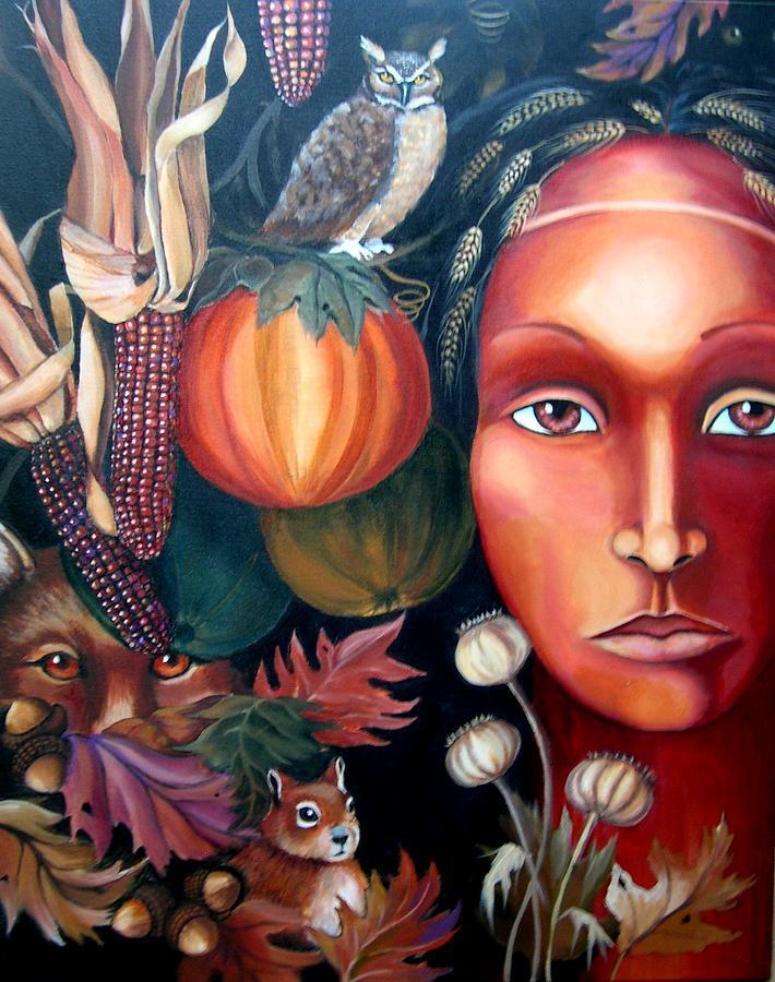 Visionary Painting - Autumn Harvest by Kandra Orr