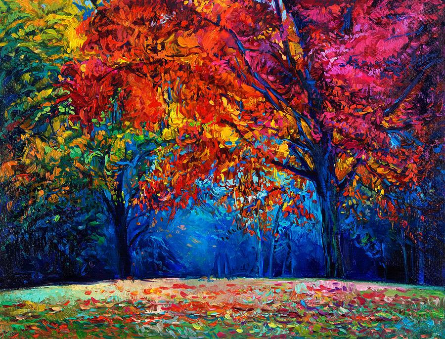 Autumn Landscape Painting By Boyan Dimitrov