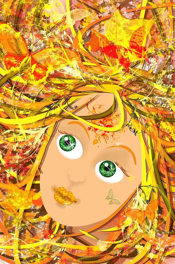 Autumn Digital Art - Autumn by Lija Baneviciute