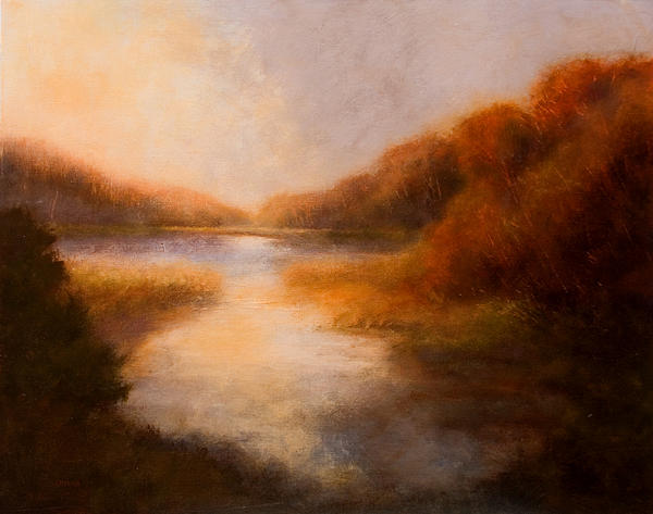 Autumn Painting - Autumn Mystery by Jan Blencowe