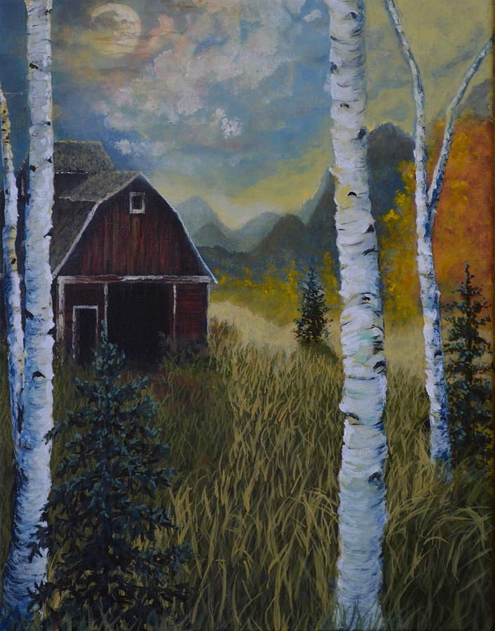 Autumn Painting - Autumn Red Barn  by Kimberly Benedict
