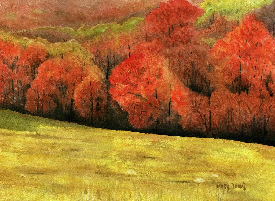 Autumn Painting - Autumn Splendor by Mary Tuomi