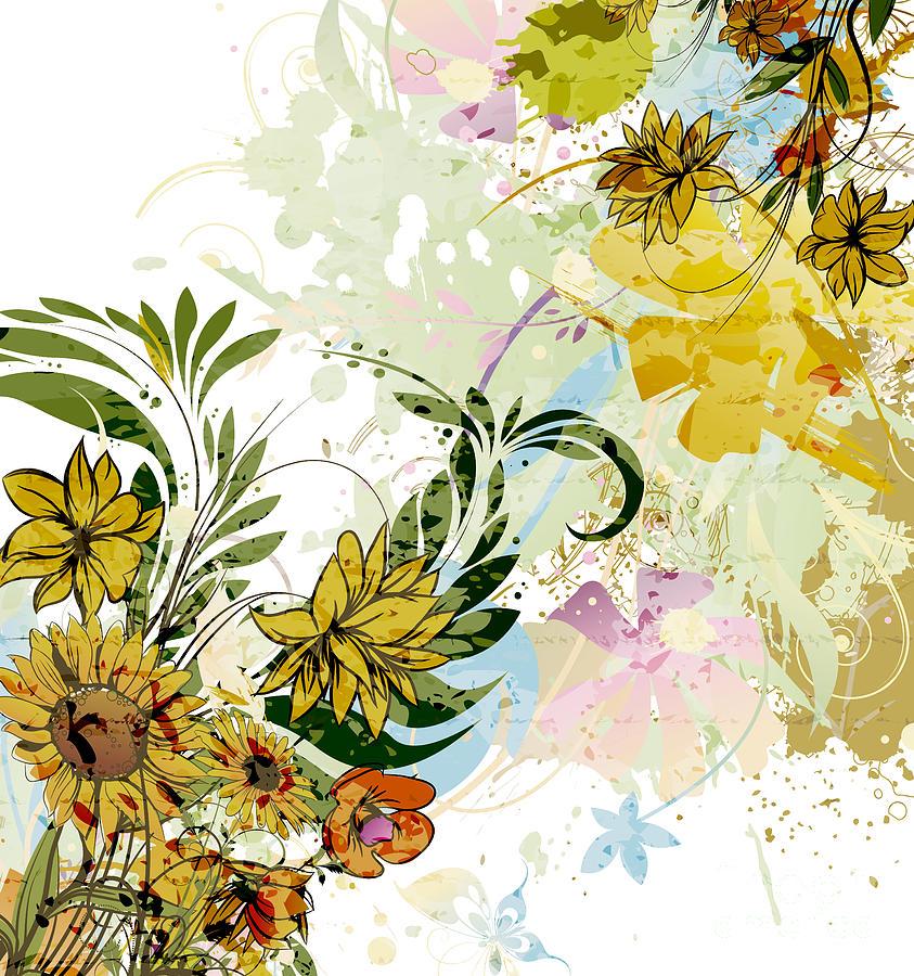 Autumn Sunflower Digital illustration by Heinz G Mielke