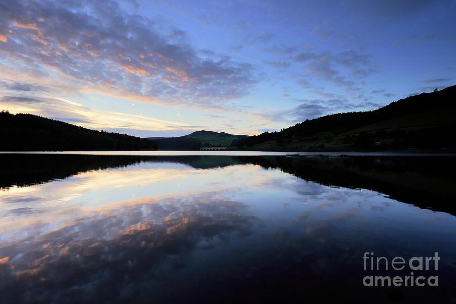 Autumn Photograph - Autumn Sunset, Ladybower Reservoir Derwent Valley Derbyshire by Dave Porter