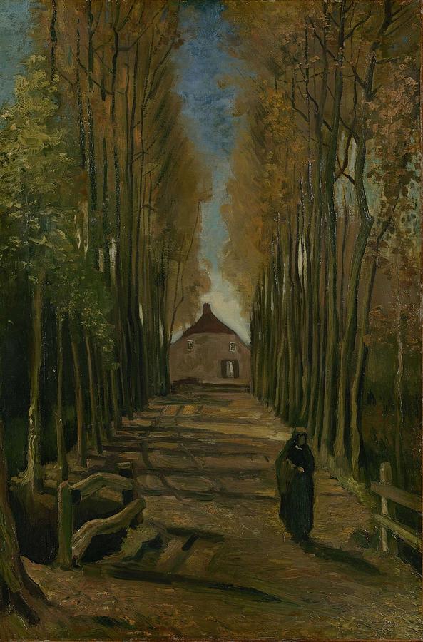 Nature Painting - Avenue Of Poplars In Autumn Nuenen, October 1884 Vincent Van Gogh 1853 - 1890 by Artistic Panda