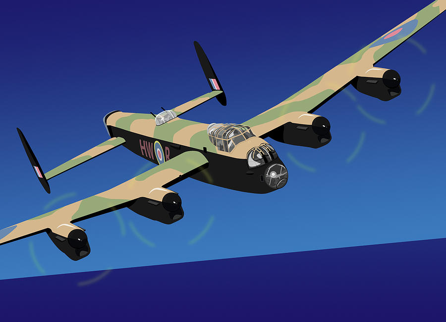 Avro Lancaster Bomber Digital Art - Avro Lancaster Bomber by Michael Tompsett
