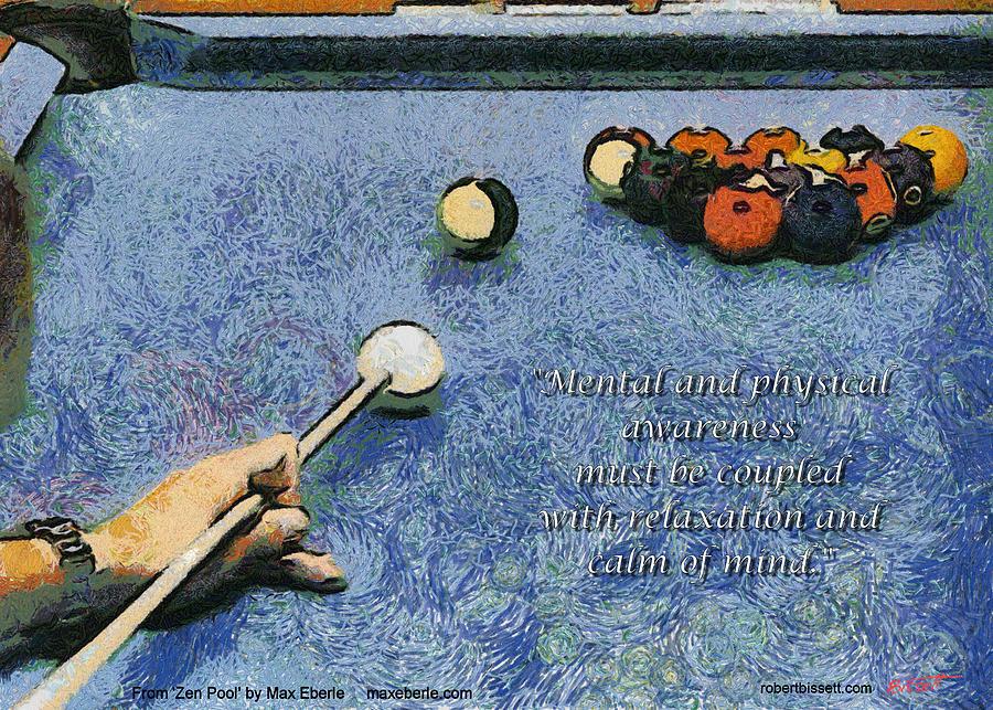 Pool Digital Art - Awareness Zen Pool by Max Eberle