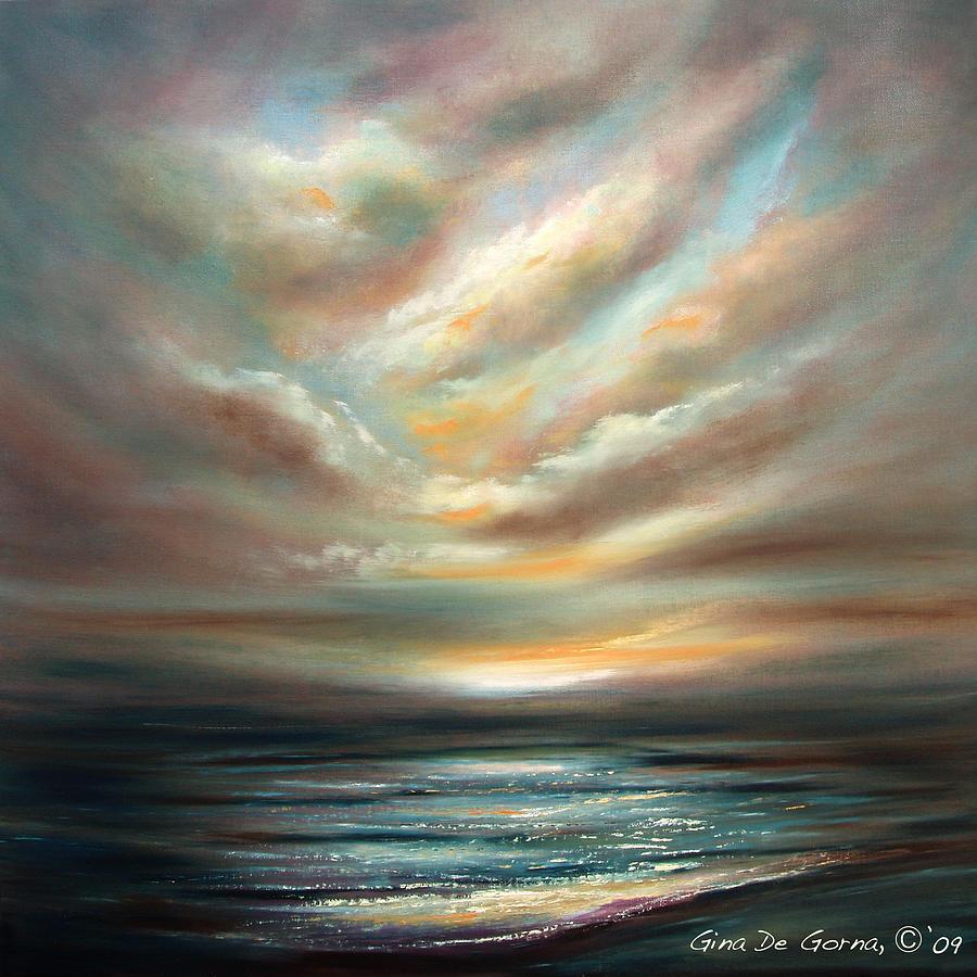 Sunset Painting - Away 2 by Gina De Gorna