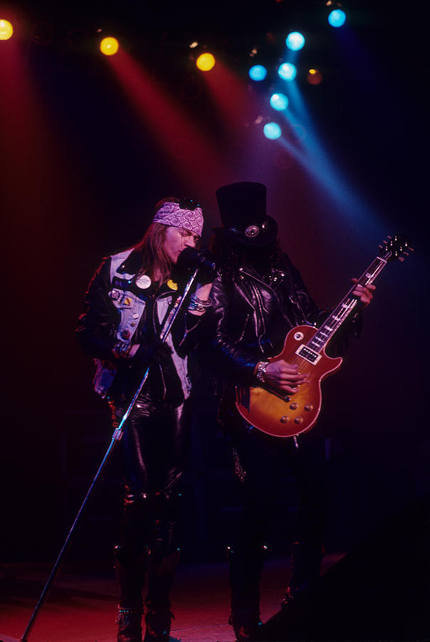 Axl Rose Photograph - Axl Rose And Slash by Rich Fuscia