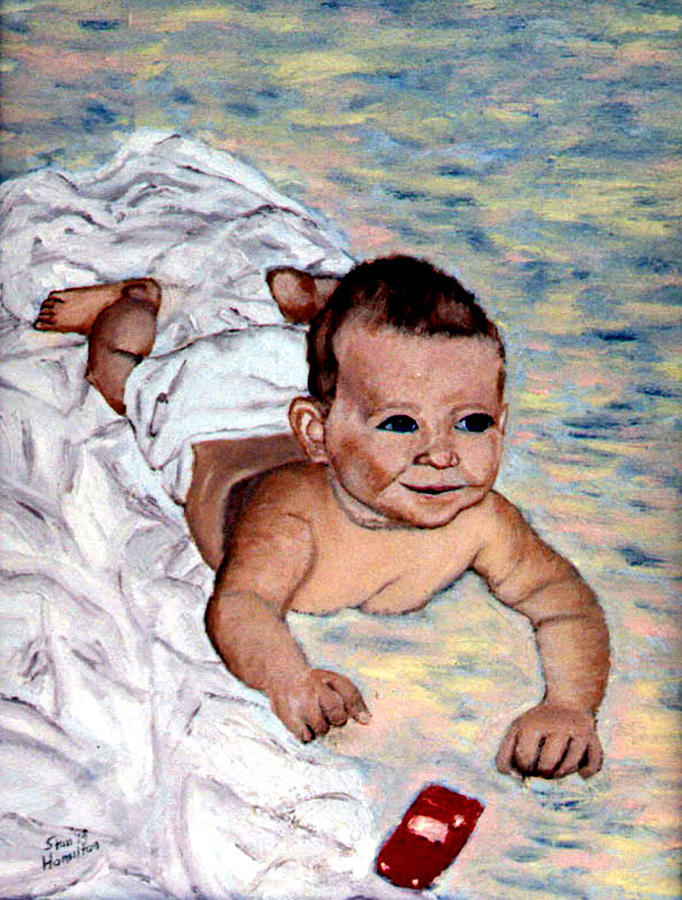 Baby Painting - Baby In Heaven by Stan Hamilton