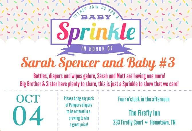 Baby Sprinkle Invitation Wording