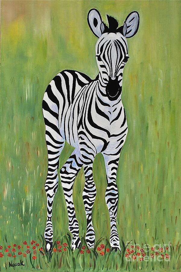 Baby Zebra Painting By Dorota Nowak