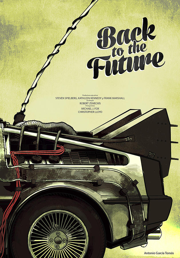 Movie Digital Art - Back To The Future Delorean Part 1 by Geek N Rock