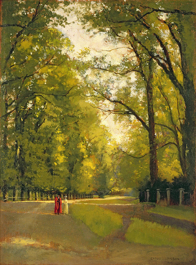 Park Painting - Backs Of The Colleges Cambridge by Cyrus Johnson