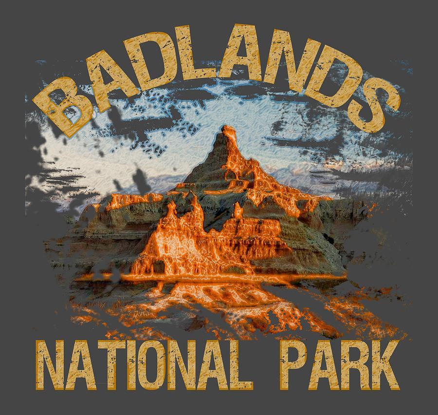 Badlands National Park Digital Art - Badlands National Park by David G Paul