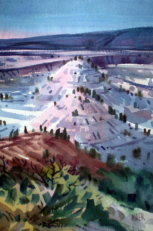 Badlands Painting - Badlands South Dakota by Donald Maier