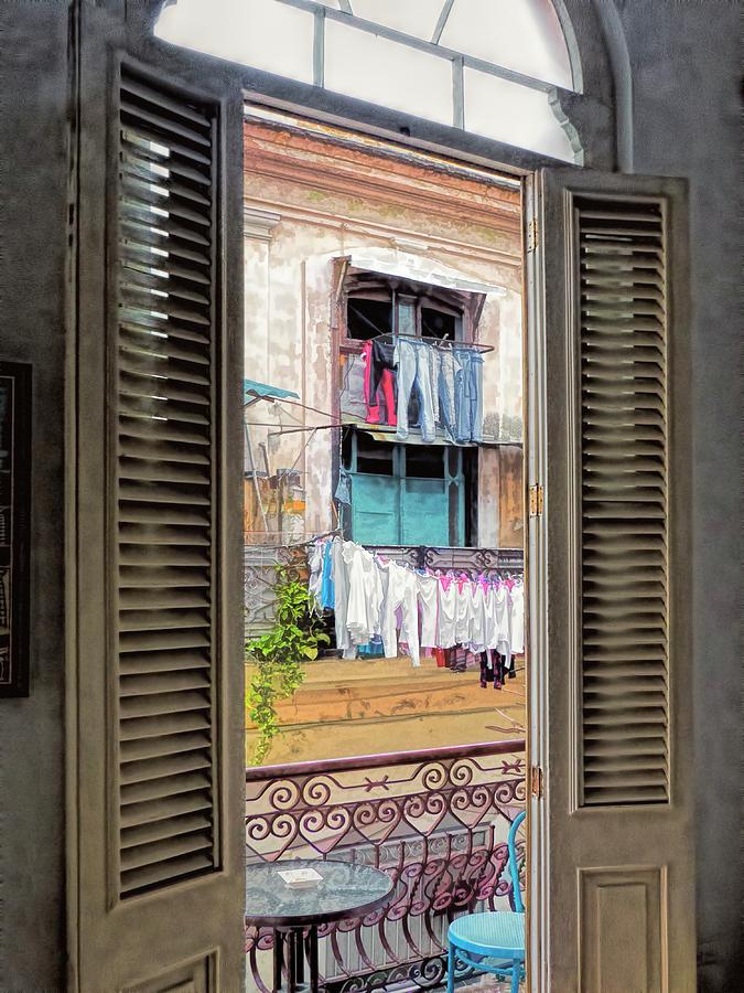 Cuba Photograph - Balcony View  by Claude LeTien