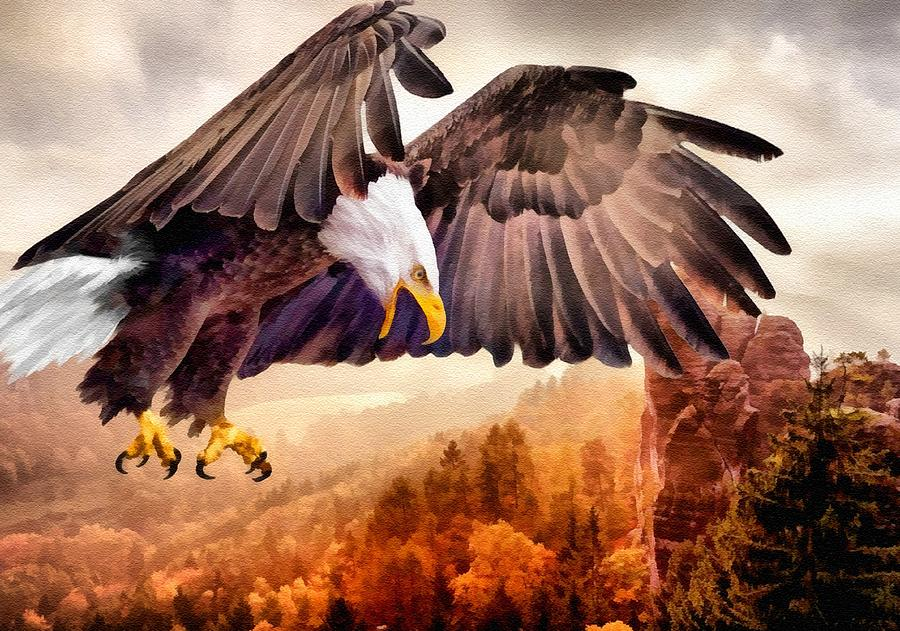 Bald Eagle Closing In For The Catch L B Digital Art by ...