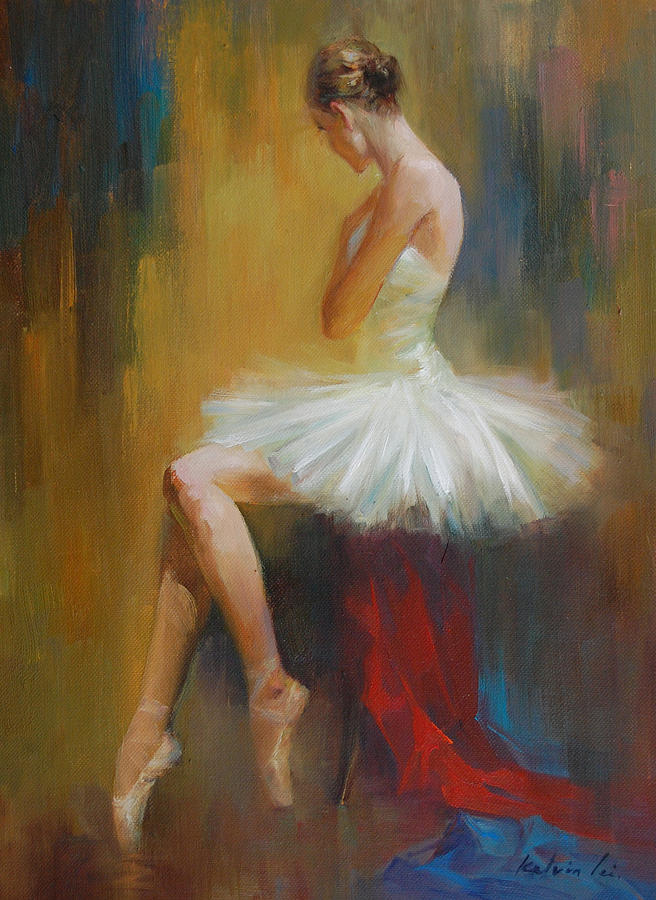 Black And White Ballerina Painting