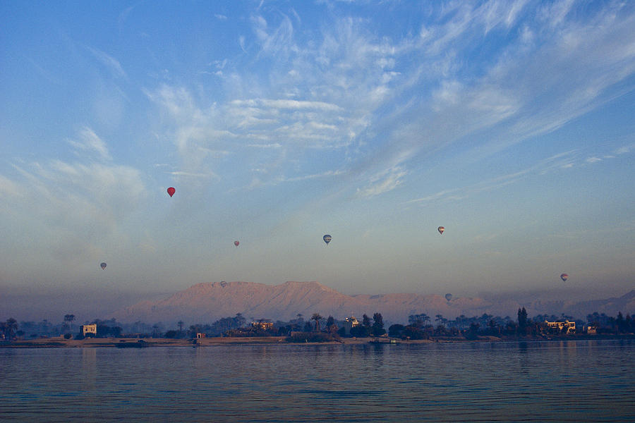 Egypt Photograph - Ballooning Over The Nile by Michele Burgess