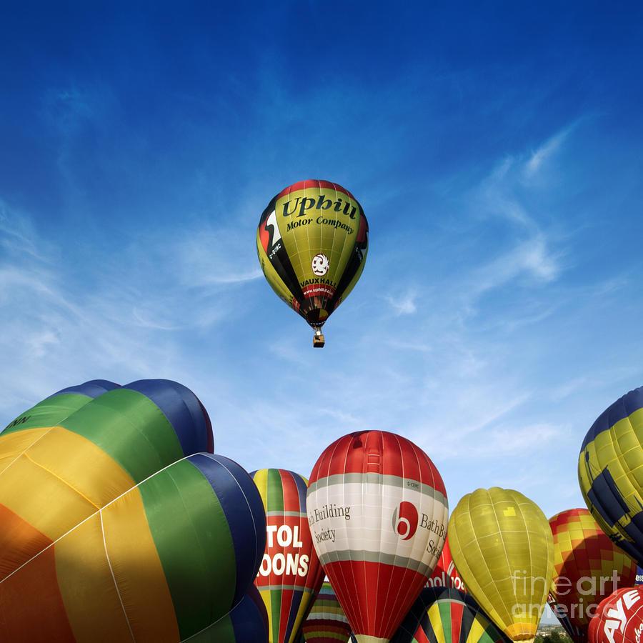 Balloon Fiesta Photograph - Balloons by Angel Ciesniarska