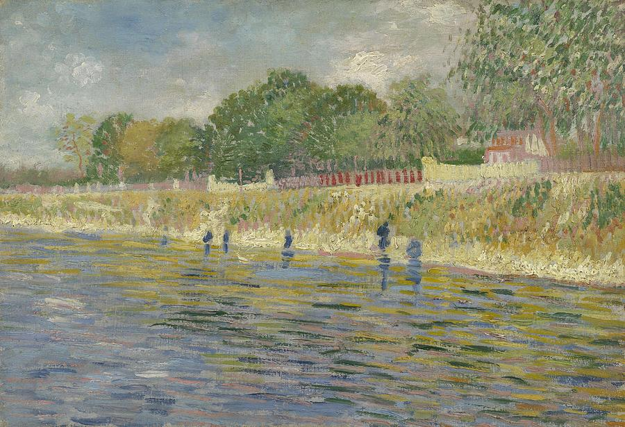 Nature Painting - Bank Of The Seine Paris, May - July 1887 Vincent Van Gogh 1853 - 1890 by Artistic Panda