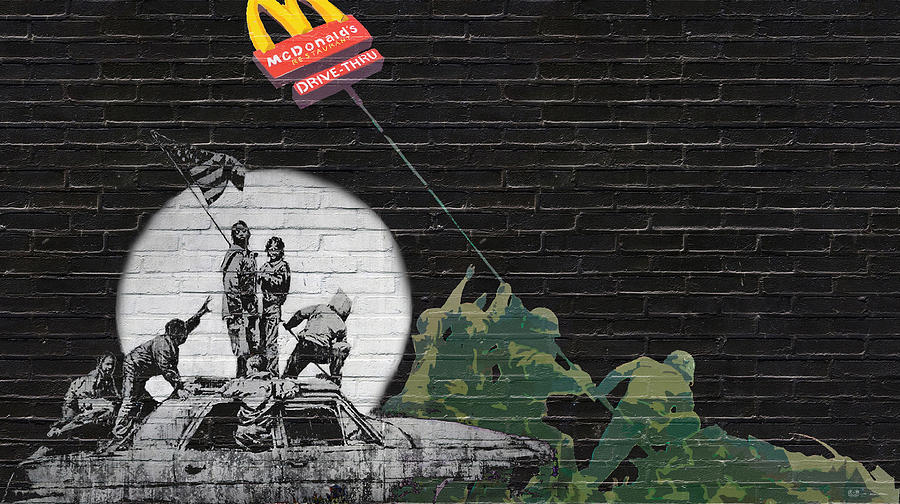 Banksy Photograph - Banksy - The Tribute - New World Order by Serge Averbukh