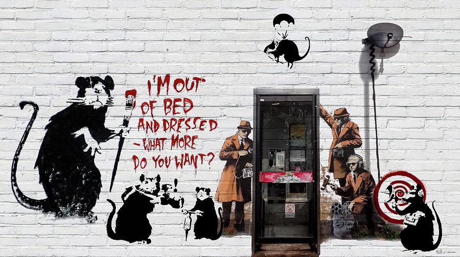 Banksy Photograph - Banksy - The Tribute - Rats by Serge Averbukh