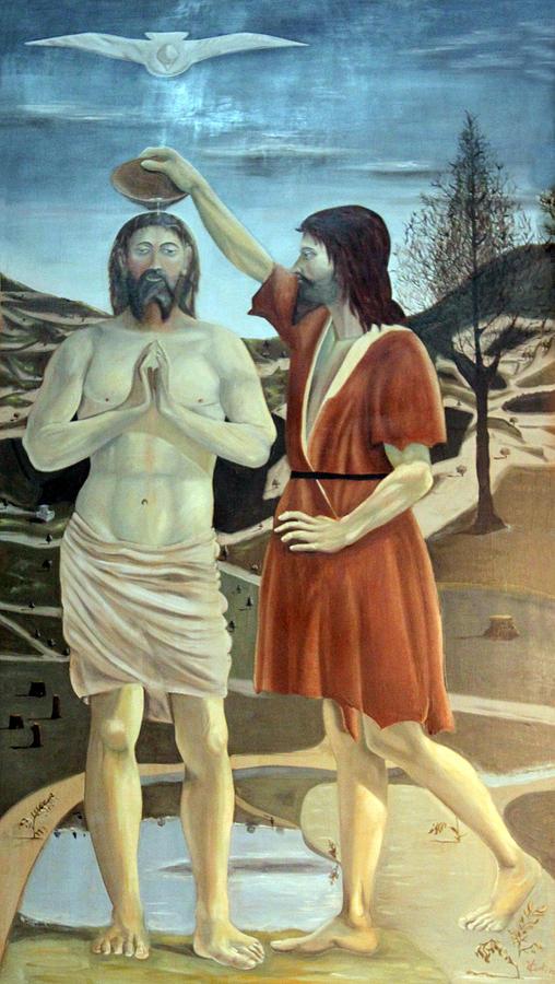 Jesus Photograph - Baptism by Munir Alawi