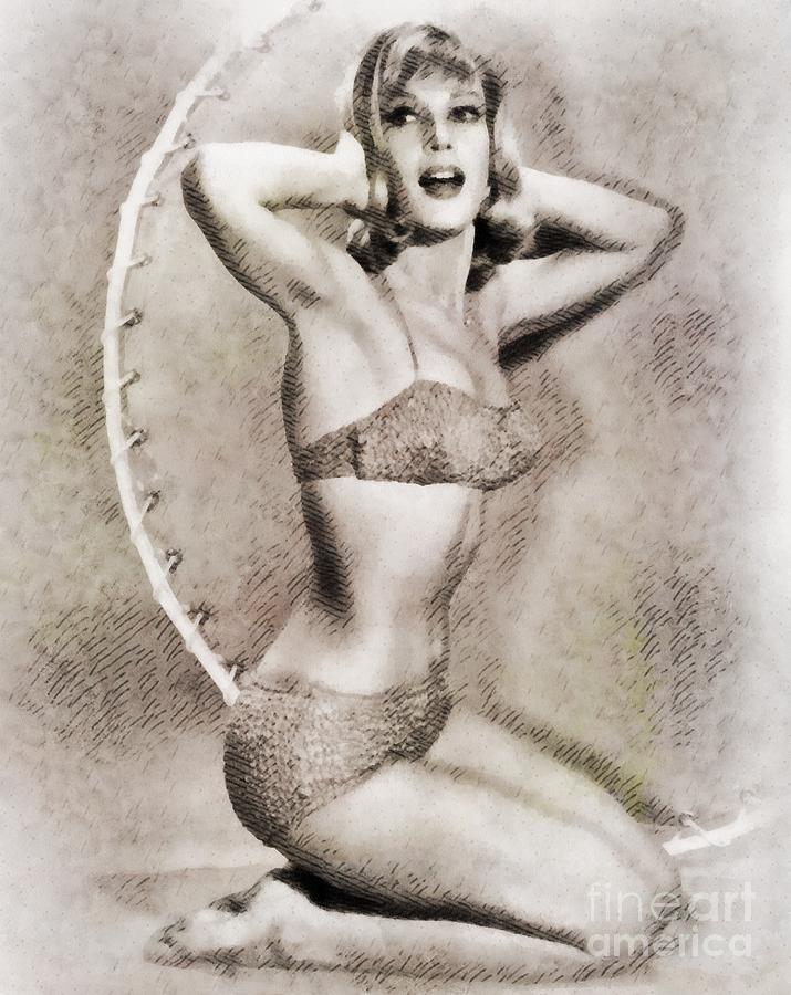 Barbara Eden, Vintage Hollywood Actress Painting