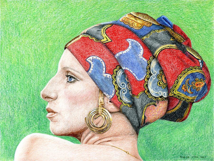 Singer Drawing - Barbra Streisand by Rob De Vries