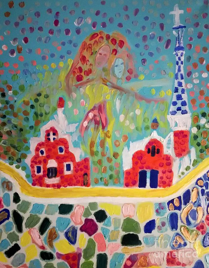 Barcelona Painting - Barcelona by Roni Goldfinger