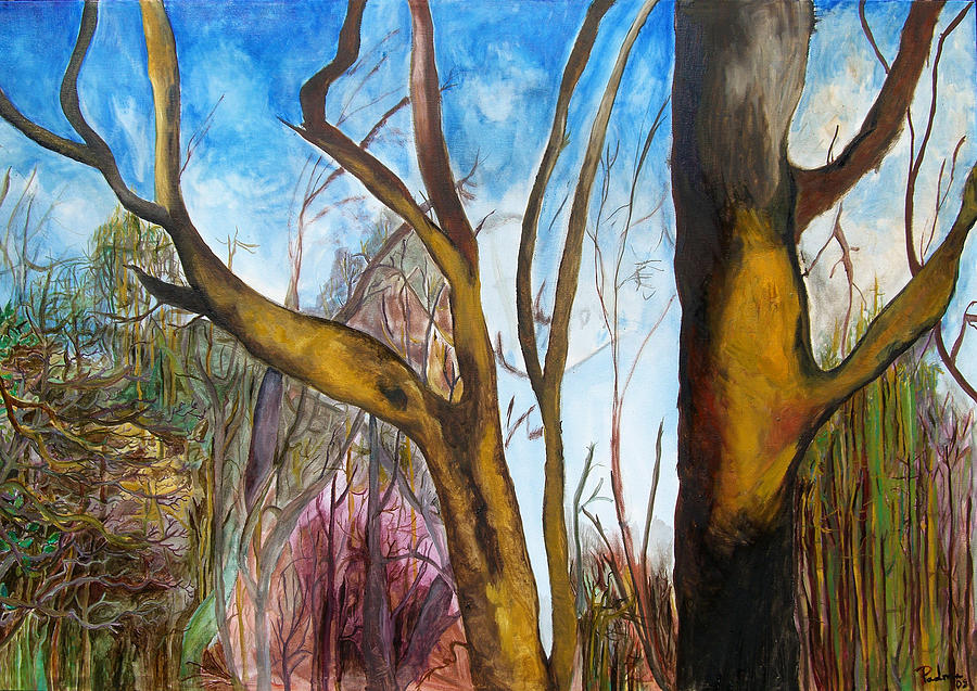 Landscape Painting - Bare Beauty by Padma Prasad