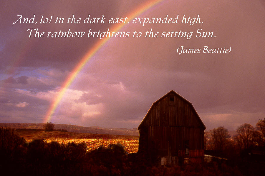 Poster Photograph - Barn And Rainbow Poster by Roger Soule