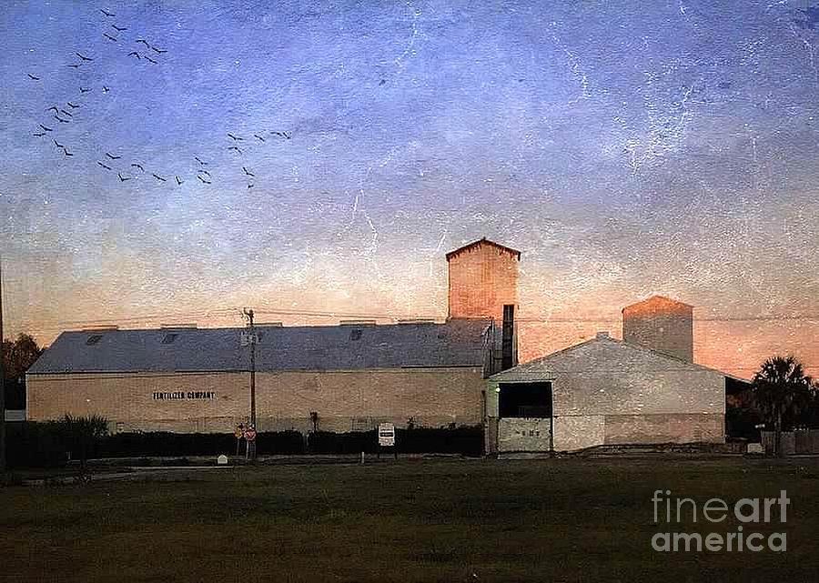 Barn Digital Art - Barn At Sunrise by Beth Williams