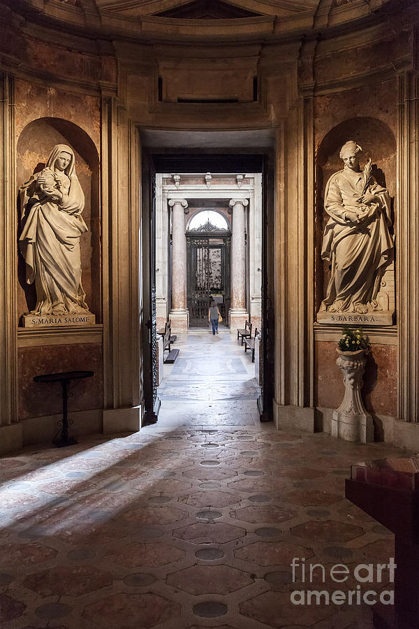 Italian Photograph - Baroque Chapel by Jose Elias - Sofia Pereira