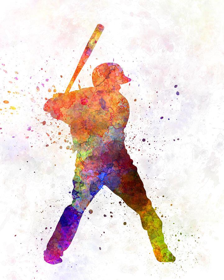 Baseball Painting - Baseball Player Waiting For A Ball by Pablo Romero