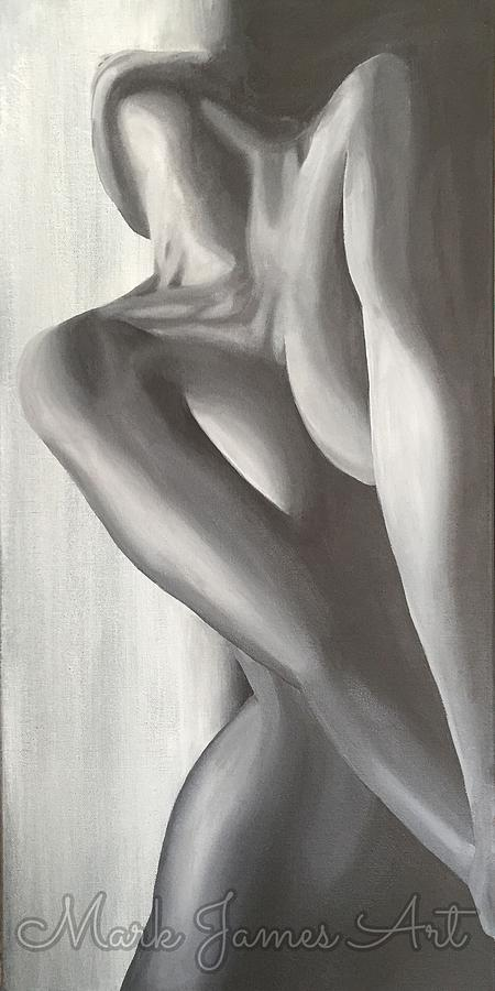 Black And White Painting - Bashful by Mark James