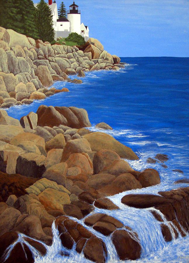 Lighthouse Paintings Painting - Bass Harbor Head Lighthouse by Frederic Kohli