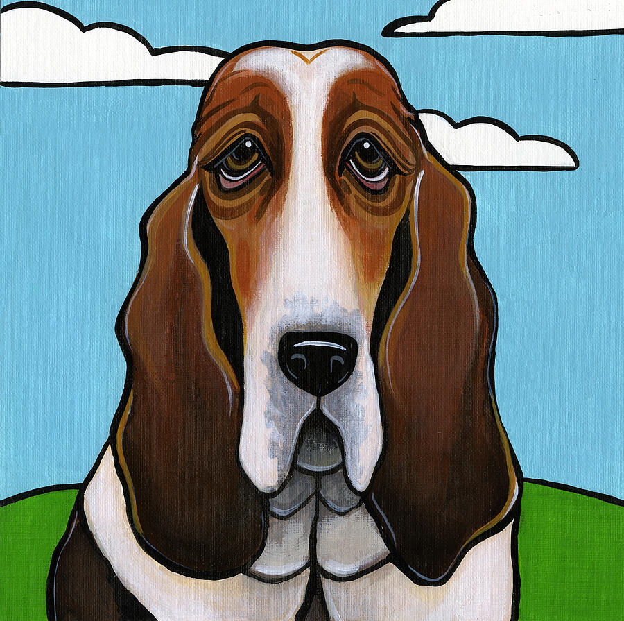 Dog Painting - Basset Hound by Leanne Wilkes