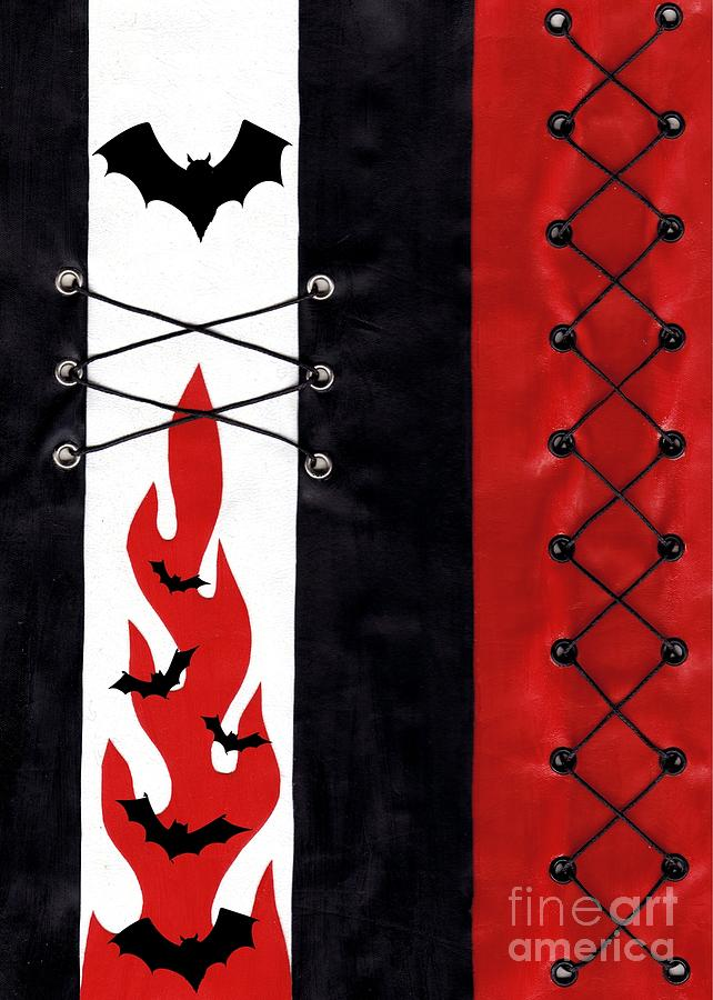Gothic Art Digital Art - Bat Outa Hell by Roseanne Jones