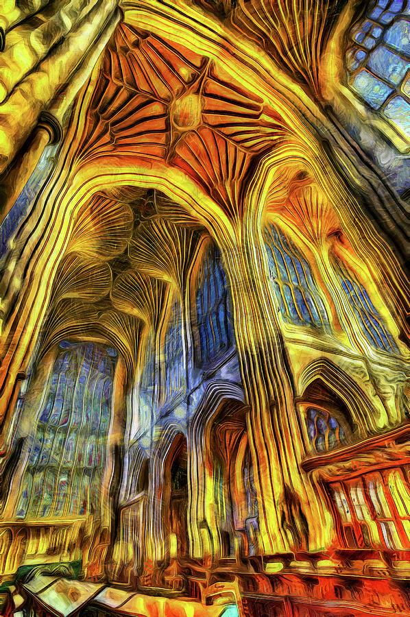 Bath Abbey Vincent Van Gogh Photograph