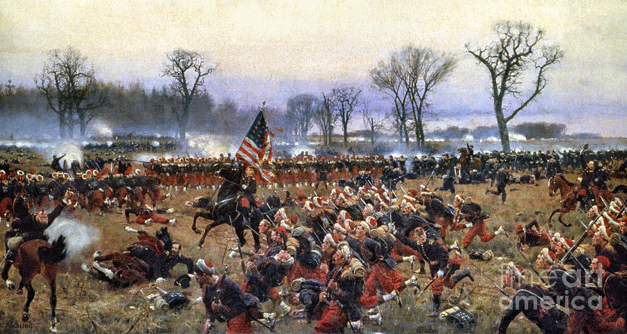 1862 Painting - Battle Of Fredericksburg - To License For Professional Use Visit Granger.com by Granger