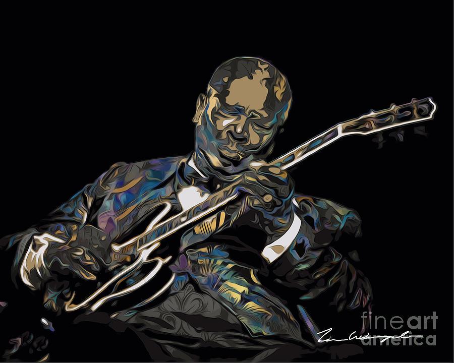 Bb King Digital Art - Bb King 1 by Tim Wemple