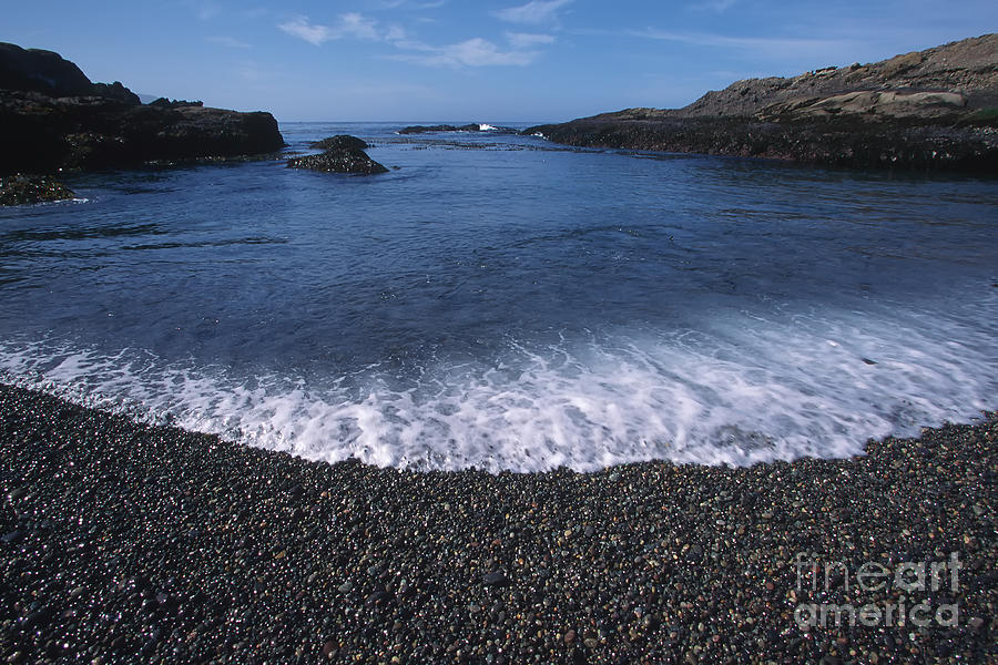 California Photograph - Beach At Point Lobos by Stan and Anne Foster
