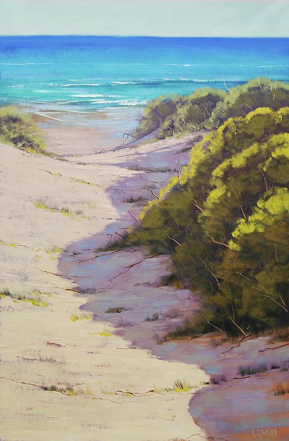 Beach Scene Painting - Beach Dunes by Graham Gercken