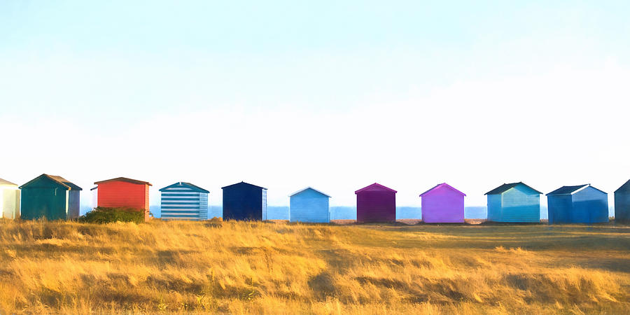 Architecture Photograph - Beach Huts by Trevor Wintle